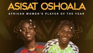 "Photo of No Nigerian voted for Asisat Oshoala, not even the ""praise singer"" Perpetua Nkwocha"