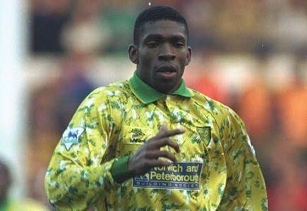 Efan Ekoku in action for (Norwich City)