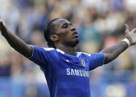 Didier Drogba celebrating