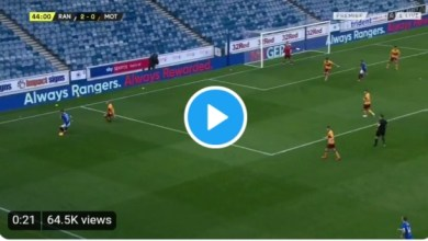Photo of VIDEO: Aribo scores a Messi-esque goal in Rangers 4-0 win against Motherwell