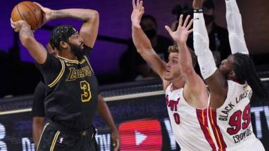 Photo of Lakers go 2-0 against short-handed Heat in 2020 NBA Finals