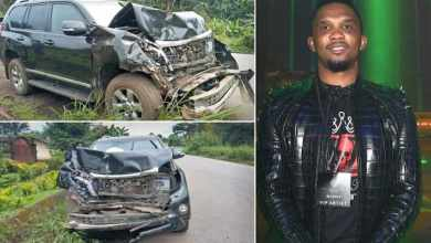 Photo of Samuel Eto'o hospitalized with minor head injury after car accident in Cameroon
