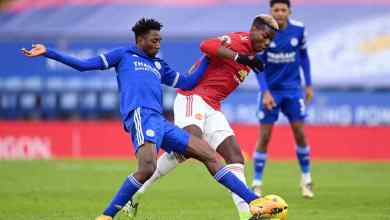 Photo of Wilfred Ndidi boss the midfield in Leicester City 2-2 draw against Man Utd
