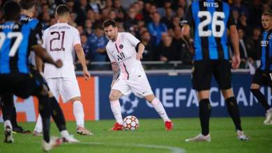 Photo of PSG held by Club Brugge as Messi makes full debut