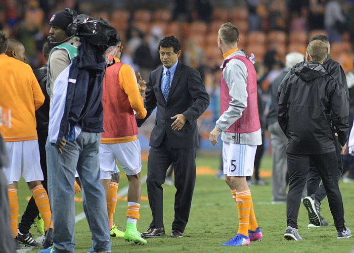 Houston Dynamo Head Coach Wilmer Cabrera During a match between the Houston Dynamo vs Seattle Sounders FC
