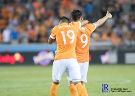 During a Match between the Houston Dynamo vs The New York Red bulls April 1,2017 BBVA Compass Stadium