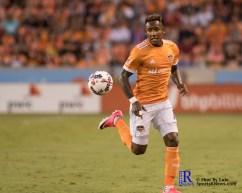 Houston Dynamo Forward Romell Quioto #12 During a match between the Houston Dynamo vs Orlando City SC,Week 10 of the MLS.Houston Tx.2017