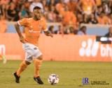 Houston Dynamo Midfielder Alex #14 controls the ball During a match between the Houston Dynamo vs Orlando City SC,Week 10 of the MLS.Houston Tx.2017