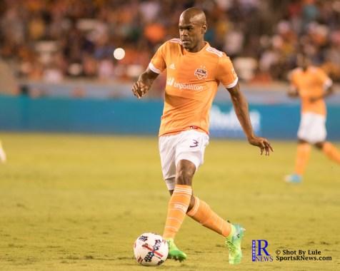 Houston Dynamo Defender Adolfo Machado #3 During a match between the Houston Dynamo vs Orlando City SC,Week 10 of the MLS.Houston Tx.2017