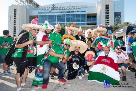 Mexico Fans Get ready prior to friendly Match between Mexico National Team and Ghana National Team at NRG Stadium,June 28,2017 Houston Tx.