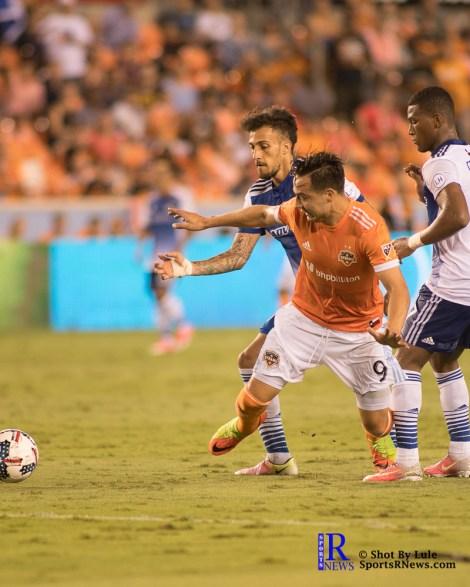 Houston Dynamo Forward Erick Torres #9 During a match between the Houston Dynamo vs Dallas FC,June 23,2017 Houston Tx.