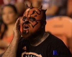 a fan chants During a match between the Houston Dynamo vs Dallas FC,June 23,2017 Houston Tx.