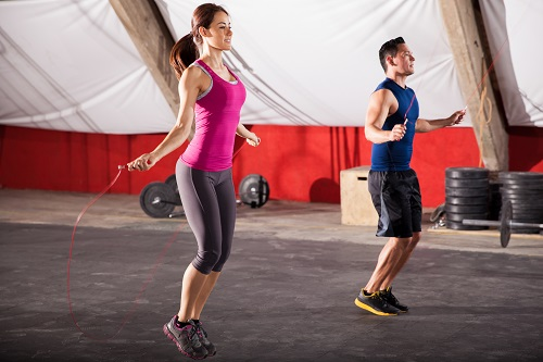 Exercising with a jump rope
