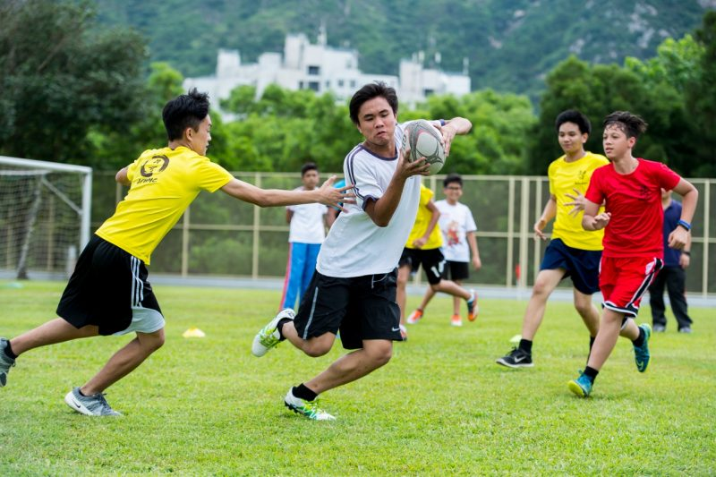 HKRU school of rugby scheme at Buddhist Fat Ho memorial College