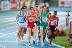 5000 metres final at the 2010 European Athletics Championships in Barcelona. Stefano La Rosa, Jesús España, Arne Gabius, Alistair Cragg, Hayle Ibrahimov by Wikipedia user Erik van Leeuwen