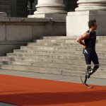 South African Olympic and Paralympic runner Oscar Pistorius at the Royal Exchange, London. Photo by Flickr user Javi