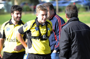 rugby referee, get into college