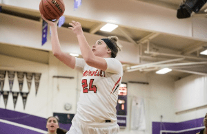 Ali Bamberger, the Cougars 6-foot-3 post player, posted a dominant double-double for Carondelet girls basketball