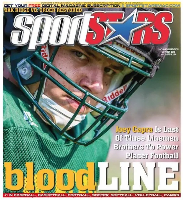 Joey Capra, SportStars, Cover, Placer