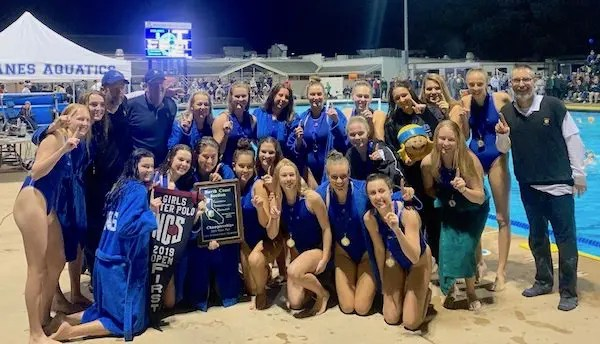 Acalanes girls water polo, Team of the Year, NCS champions