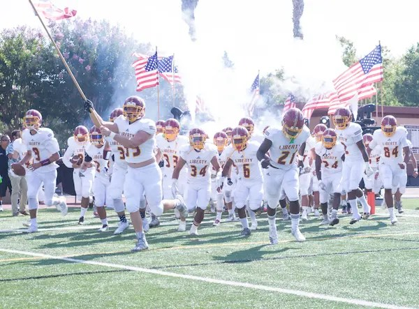 Liberty High, Brentwood, Football, Flags
