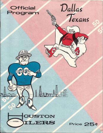 houston oilers vs dallas texans 1960