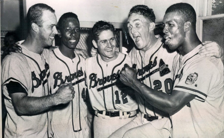 Image result for 1957 milwaukee braves