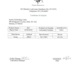 S23 certificate of analysis