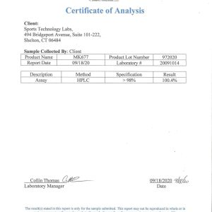 MK-677 certificate of analysis