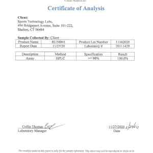 certificate of analysis for ru58841
