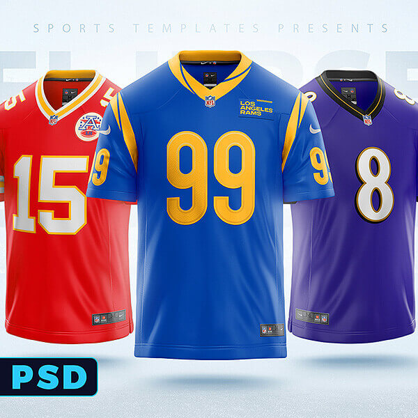 Download NFL Football jersey builder template - Sports Templates