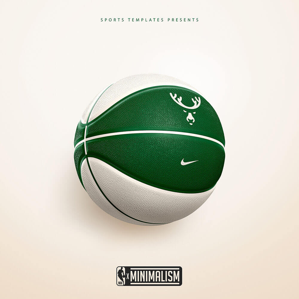 Milwaukee Bucks Minimalist ball rebrand