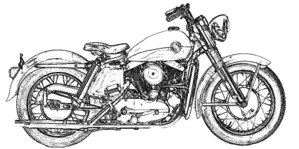 1976 flh harley davidson