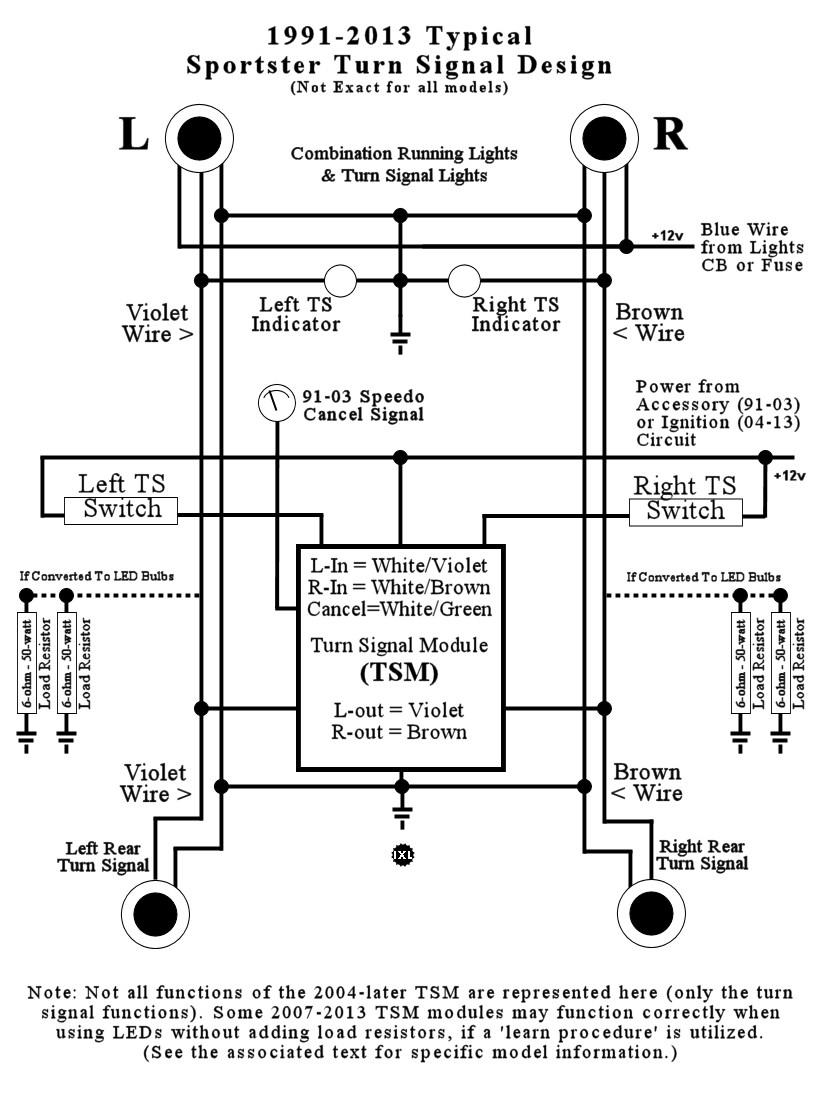 Turn Signal Led Load Resistor Wiring Diagram
