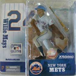 Willie Mays Chase Edition New York Giants Gray Jersey Figure