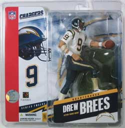 Drew Brees Variant Figure San Diego Chargers White Jersey no stripes on socks