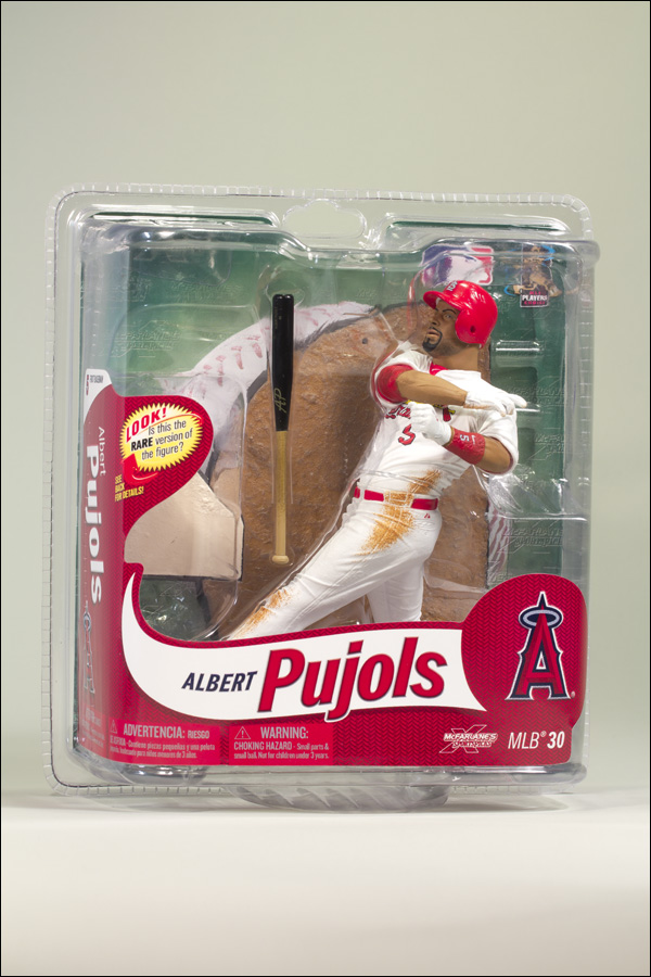 Albert Pujols St. Louis Cardinals White Jersey Collector's Level Figure
