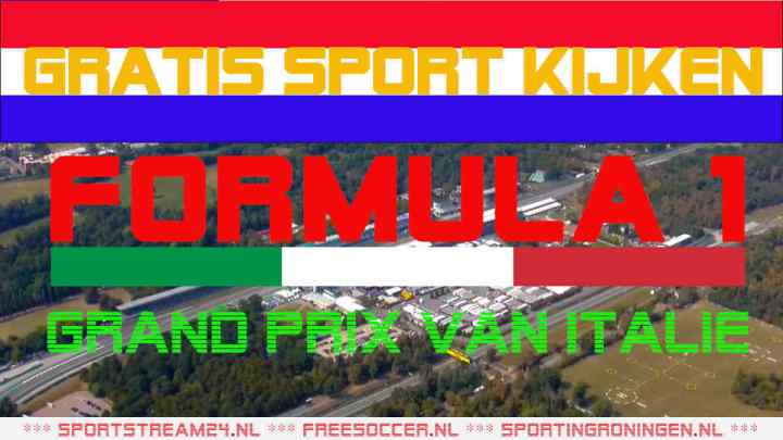 Livestream Formule 1 GP van Italië '21