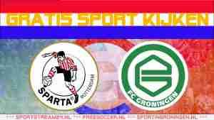 Livestream Sparta vs FC Groningen