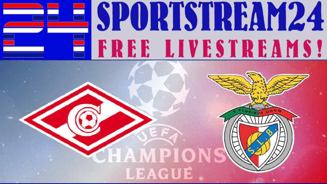Livestream Spartak Moskou - SL Benfica