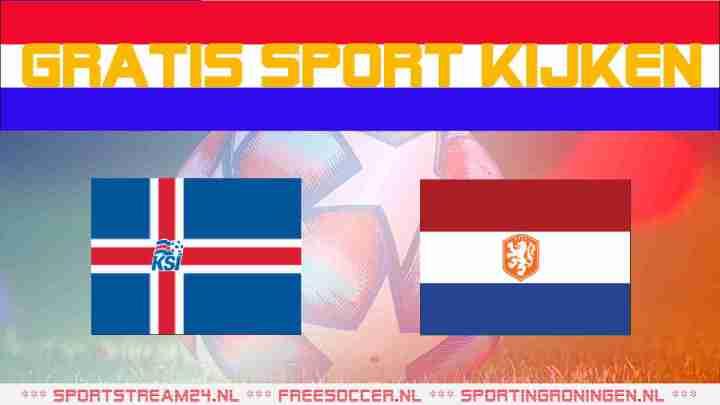 Livestream IJsland - Nederland