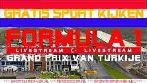 Formule 1 Grand Prix van Turkije Live Stream