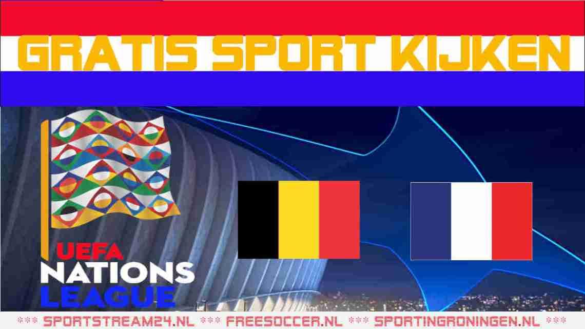 Livestream België vs Frankrijk