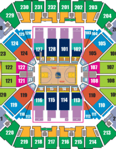 Golden state warriors seating chart also tickets hotels near oracle arena view deals rh sportstrips