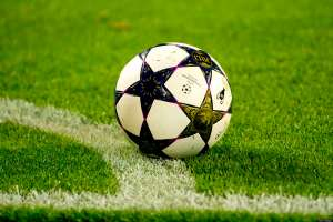 The match ball is seen during the UEFA Champions league second leg quarter final football match between Borussia Dortmund and Malaga in Dortmund on April 9, 2013. Dortmund defeated Malaga 3-2 to advance to the semi-finals. AFP PHOTO / ODD ANDERSEN (Photo credit should read ODD ANDERSEN/AFP/Getty Images)