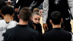 Becky Hammon Becomes First Woman to Serve as Head Coach in N.B.A. Game