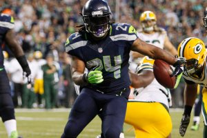 Marshawn Lynch and the Seattle Seahawks have a chance to sweep the Cardinals on Sunday.