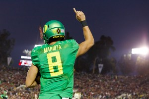 Can Marcus Mariota lead the Ducks to a national title? (Courtesy of Daily Emerald)