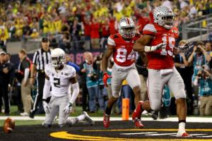 Ezekiel Elliot scored three touchdowns, and carried the Ohio State offense. (Courtesy of Bleacher Report)