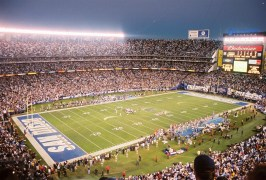"""Qualcomm Stadium is the last of the """"Cookie Cutter"""" stadiums in use."""